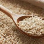 Rice, basmati brown closeup