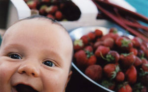 baby and berries